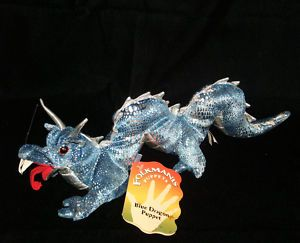 New Folkmanis 15 Asian Blue Dragon Puppet Plush