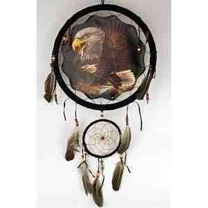 Large 13 Flying Eagle Dream Catcher Wall Decor