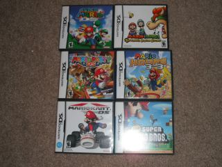 Nintendo DS Mario Case Lot Kart Party Hoops Cases Only