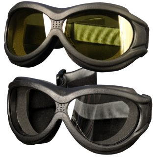 Big Ben Yellow Goggles Motorcycle Biker Over Glasses Anti Fog Lenses