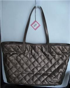 Donna Dixon Quilted Lightweight Shopper Tote Bag Dark Copper $110