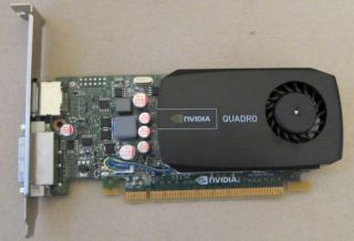 1GB nVidia Quadro 600 Professional Graphics Card, P/N 05YGHK, DVI + DP