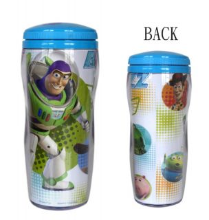 Toy Story Buzz Lightyear Woody Drink Water Cup w Lid