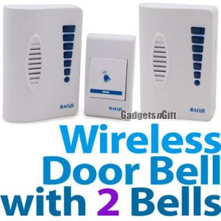 Wireless Door Bell 2 Chimes 1 Remote Control Receiver 32 Melodies LED