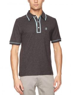 Original Penguin Mens Earl Polo Shirt Mens Size M L XL Dark Grey New