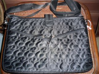 Ellie East to West 15 inch Black Quilted Laptop Case Very Cute Retail
