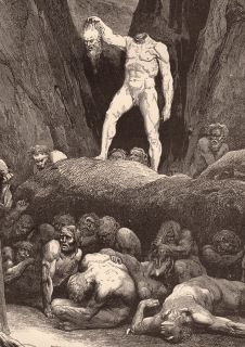DANTES INFERNO GUSTAVE DORE BY THE HAIR JOURNEY HELL 13X19 PRINT
