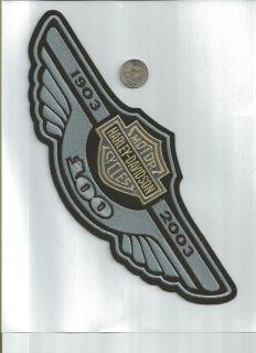 Harley Davidson 100th Anniversary Wing Patch XXXL