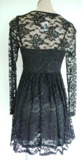 New Dotti Sexy Black Lace Dress Sz XS 6 Cocktail Party Formal with