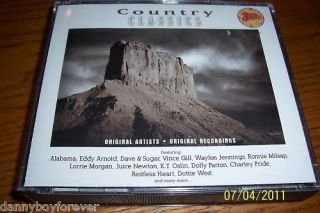 Country Classics 3 CD Eddy Arnold Dottie West Alabama