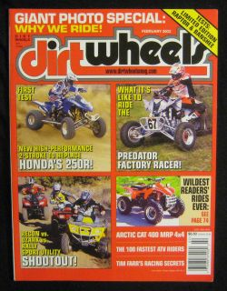 Dirt Wheels Magazine February 2003 2WD 250 Sport Utility Shootout