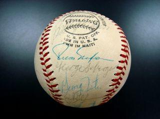 Near Mint 1976 Cincinnati Reds Team Signed Baseball World Champs