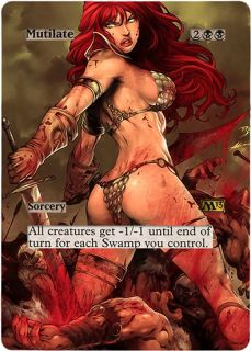 FOIL ALTERED ART SEXY MUTILATE M13 MAGIC THE GATHERING ♕