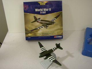 CORGI DIECAST AIRPLANE DOUGLAS C 47 RAF D DAY 1 144 VINTAGE WORLD WAR