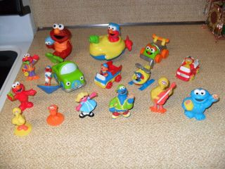 Street Lot Figures Cake Toppers Cookie Zoe Elmo Grover Prairie Dawn