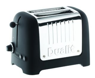Dualit 25375 Lite 2 Slice Toaster Soft Touch Black New