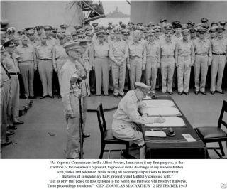 Gen Douglas MacArthur 45 Surrender Speech Photo B