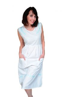 House Dress Dusters Combo Pack 3 Pretty White Gowns Size M L XL 2X
