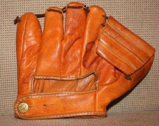 Vintage Pee Wee Reese Dubow 704 Antique Baseball Glove Brooklyn