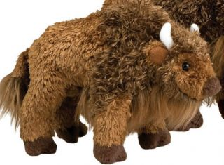 Bodi Douglas 7 Long Stuffed Baby Buffalo Plush Animal Douglas Cuddle