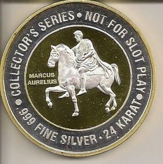 40 Caesars Atlantic City NJ Gaming Token Silver Strike 999 Fine Silver