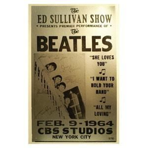 Beatles Ed Sullivan Show Card Board Poster A7855