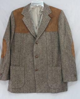 Vintage Eddie Bauer Harris Tweed Hand Woven Scottish Wool Blazer XL