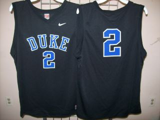Duke Blue Devils Nike 2 Black Jersey Sz Youth Medium
