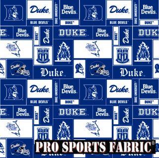 Duke University Blue Devils DU 12 V1 Ltd Fleece Fabric 60 Inches Wide