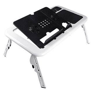 New Laptop USB Folding Table w 2 Cooling Fan Mouse Pad