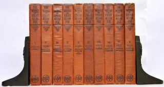 Edgar Allan Poe Antique Complete Set Works The Raven Poetry of Allen