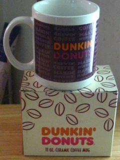 Dunkin Donuts Ceramic Coffee Mug 11 oz Original Box