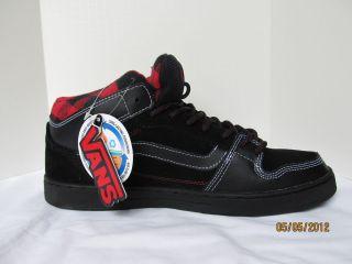 New VANS EDGEMONT mens skate shoes sneakers black red black VN ONJ6530