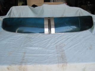 Santay Windshield Visor hot rat rod Blue Green see thru Split Window