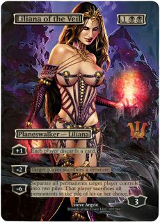 Foil Altered Art Sexy Liliana of The Veil Innistrad MTG Free Gift