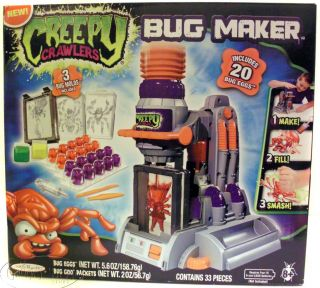 Jakks Pacific Creepy Crawlers Bug Maker Injection Molding Machine Toy