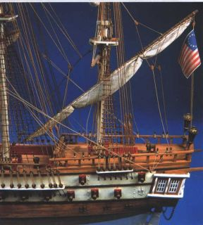 Bon Homme Richard Aeropiccola Wood SHIP Model Kit Sails