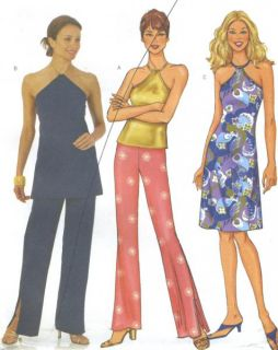 Top A Line Dress Pants Sewing Pattern Elastic Waist Easy 3156