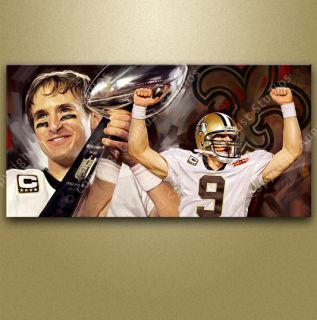 DREW BREES New Orleans Saints NFL Football Original Signed Print NEW