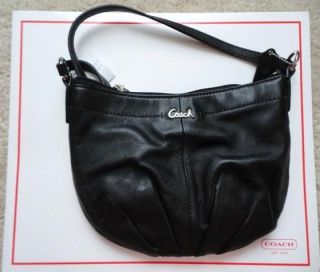 Coach Ashley Black Leather Swingpack Sling Messenger Bag Cross Body