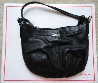 Coach Ashley Black Leather Swingpack Sling Messenger Bag Cross Body