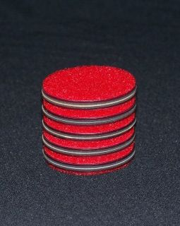 RTI Eco Red 4 Sanding Pads Resurfacing Single Sided CD DVD Pad