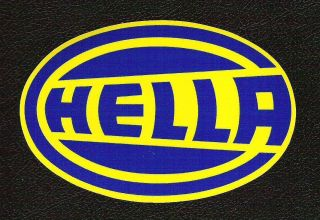 Hella Driving Lights Sticker, Vintage Sports Car Racing Decal