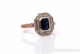 Designer Effy Diamond 1 75ct Sapphire 14k Rose Gold Ring