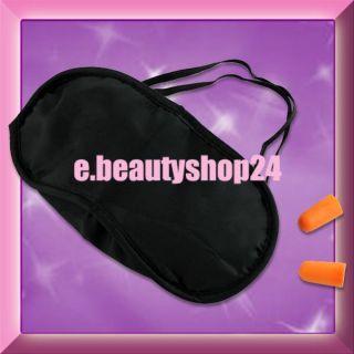 Dark Blue Travel Neck Air Cushion Pillow + Eye Mask + 2 Ear Plugs