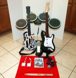 Wii Rock Band 2 Wireless Drum Set Wireless Drumset Bundle