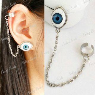 Punk Style Chain Length 9 8cm EYE1 3cm Earrings Ear Cuff FBFJ83