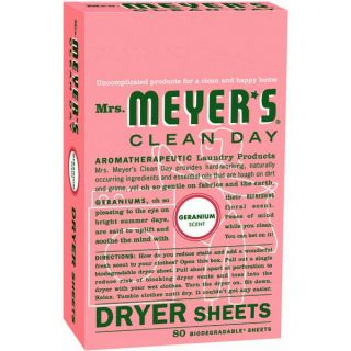 product description mrs meyer s clean day dryer sheet 80 count mrs