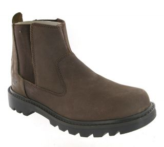 New Mens Cat Caterpillar Drysdale Brown Leather Ankle Dealer Boots