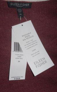 Eileen Fisher Washable Wool Melange Scoop Neck Shell Top Cinnabar $128